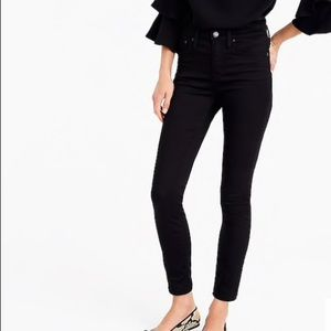 """J.Crew 9"""" High Rise Stretchy Toothpick Jean-32-NWT"""